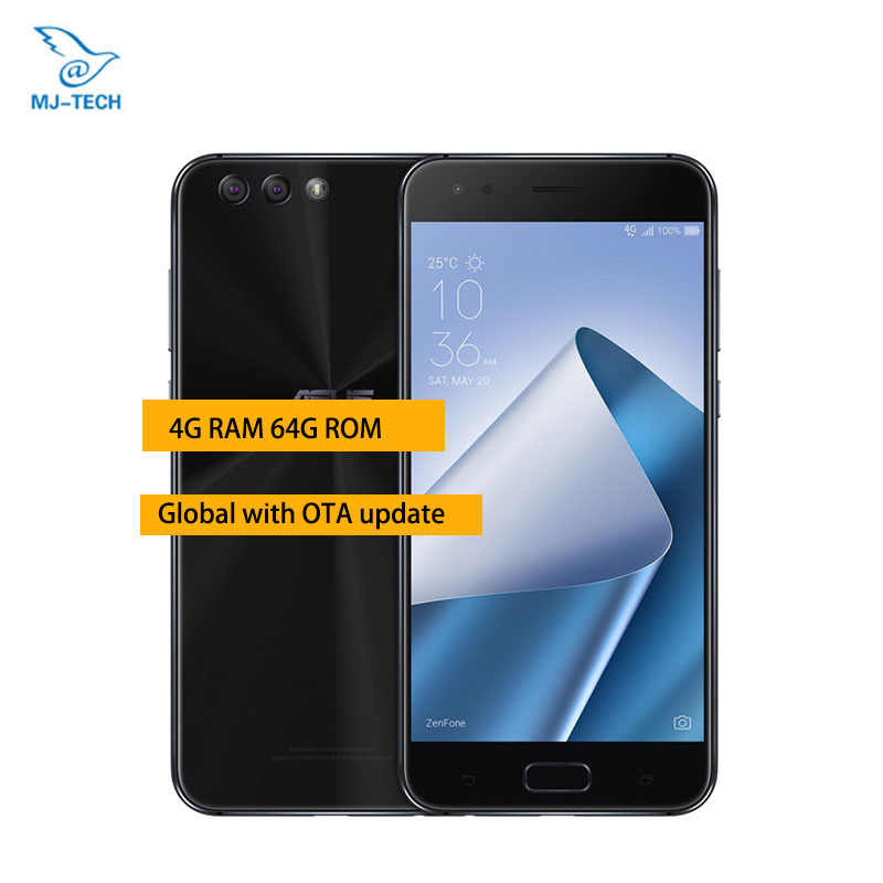Original ASUS ZenFone 4 ZE554KL 4GB 64GB, Android 7.1.1, 5.5'' inch CPU  Snapdragon 630 Octa Core, , Mobile Phone