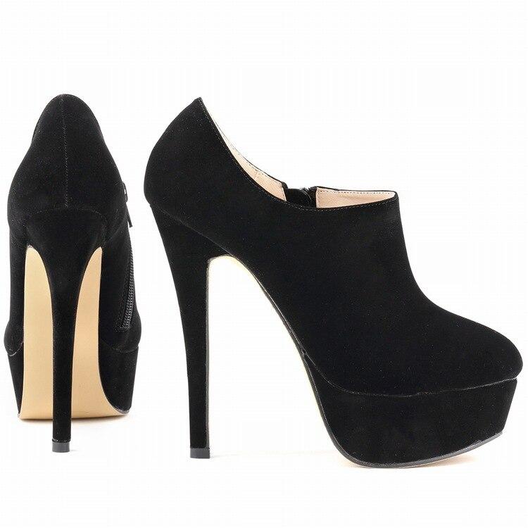 14cm platform high heel shoes woman 2015 new autumn winter thin heels pumps
