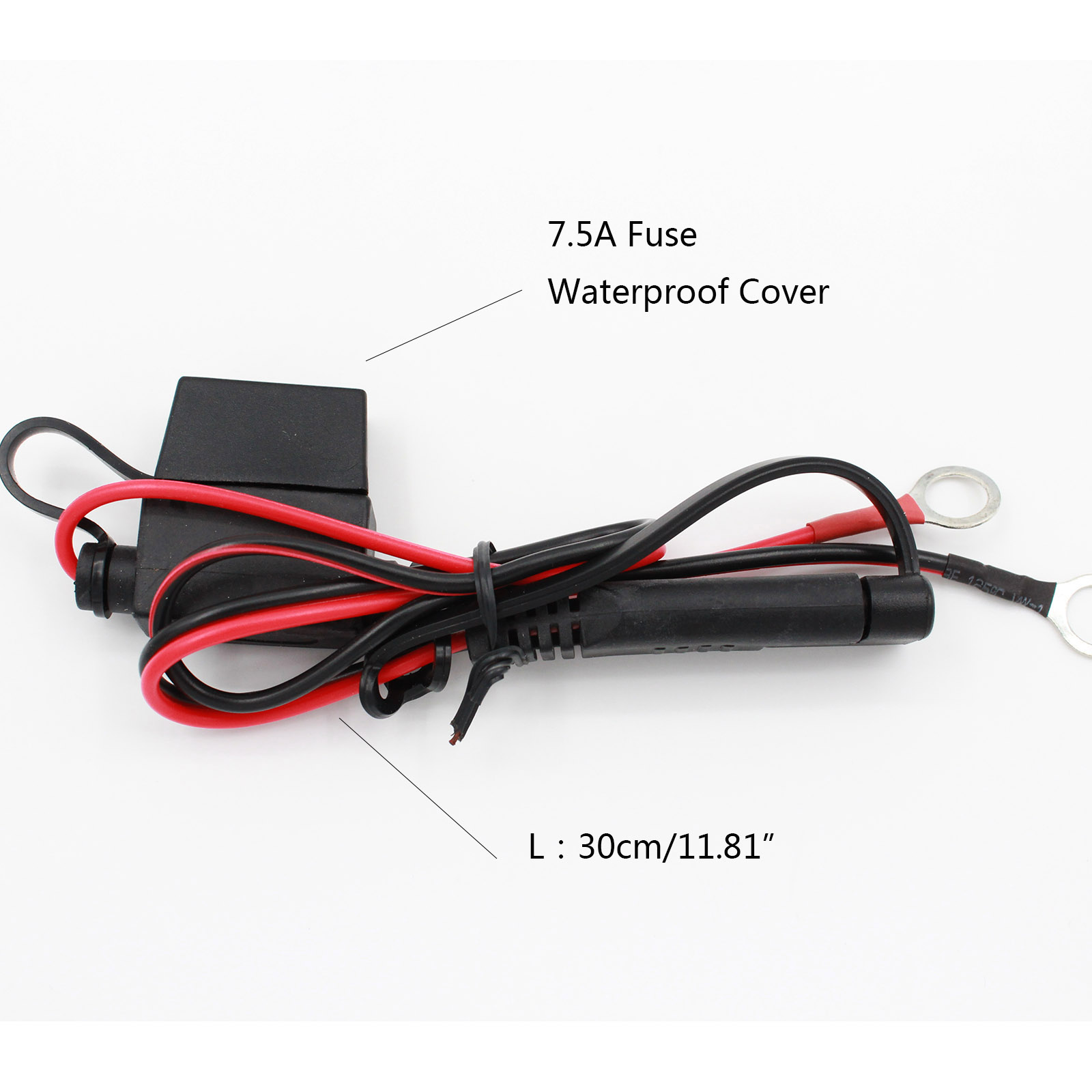 7.5A Fuse 5 Pcs Battery Charger Cables Ring Terminal Harness SAE 2 Pin  Quick Disconnect Plug Quick Connect Wires on Aliexpress.com | Alibaba Group