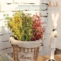 Casamento Amerikan Pastoral Kırsal plastik çiçekler bitki buğday çiçek buketi simülasyon çiçek dekorasyon malzemeleri