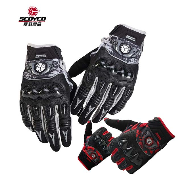 SCOYCO MC49  female and men's Motorcycle gloves carbon protective motorbike moto glove size M L XL XXL