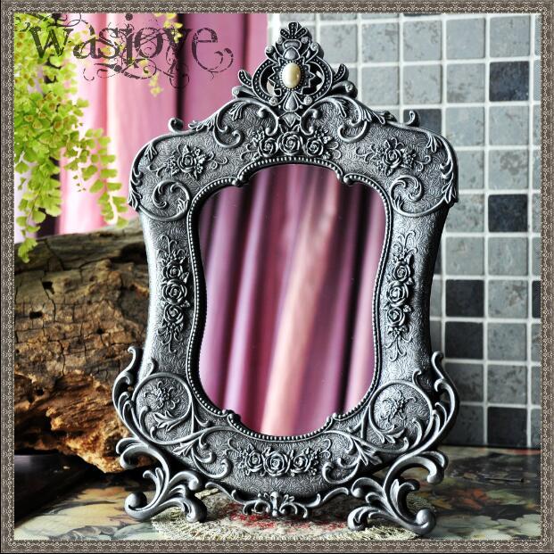 European With Antique Mirror Frame Small Mirror Antique