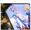Новый Re: Нулевой Isekai кара Hajimeru Seikatsu Эмилия Косплей Costume Fancy Dress + Эльф Уши Хэллоуин Взрослые Костюмы для женщины
