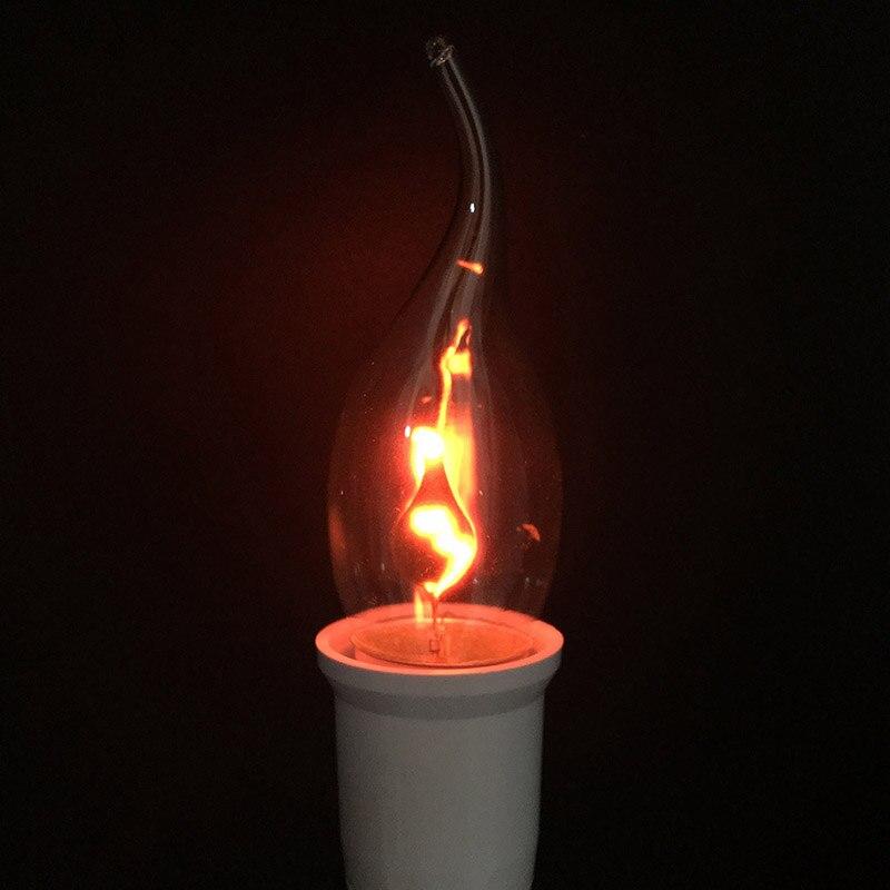 6d71e2a872a Compre Bombilla LED Edison E14 E27 3W Llama Fuego Iluminación ...