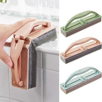 Esponja plegable para bañera, baño mágico plegable con mango, baldosa de cocina resistente, accesorios para baño, esponja cepillo de limpieza