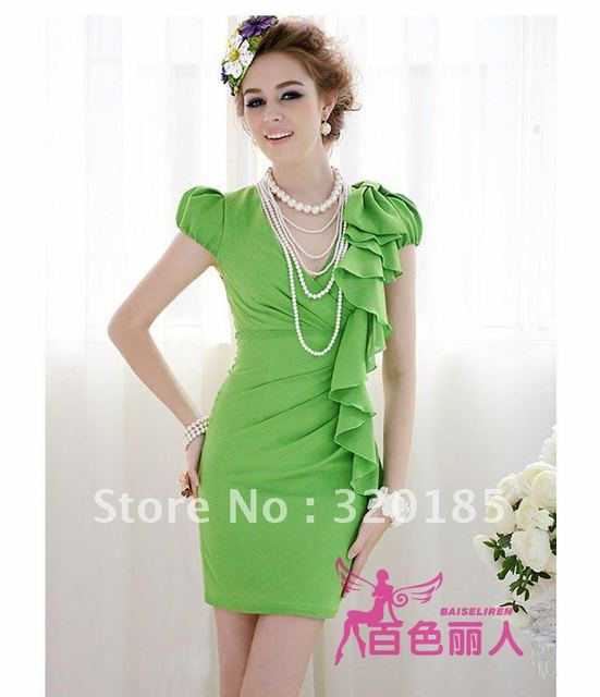 2012 Hot Sale fashionable Korea style cute and ladies' fashion dresses /mix colors and free shipping 88432