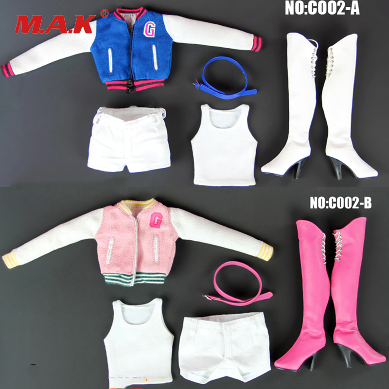 2 Colors 1/6 action Figures Accessory 1:6 Sexy C002 Baseball outfit BLUE pink colors For Big Chest Seamless Body2 Colors 1/6 action Figures Accessory 1:6 Sexy C002 Baseball outfit BLUE pink colors For Big Chest Seamless Body