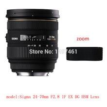 Lens Zoom or focus Rubber Ring  / Rubber Grip Repair Succedaneum For Sigma 24 70mm F2.8 IF EX DG HSM lens