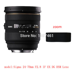 Image 1 - Lens Zoom or focus Rubber Ring  / Rubber Grip Repair Succedaneum For Sigma 24 70mm F2.8 IF EX DG HSM lens
