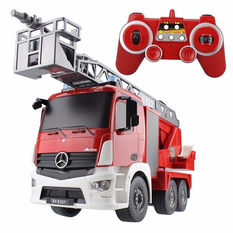 RC camion 2.4G grand feu eau échelle camion radiocommande Construction véhicule modèle passe-temps jouets pour enfants cadeaux d'anniversaire