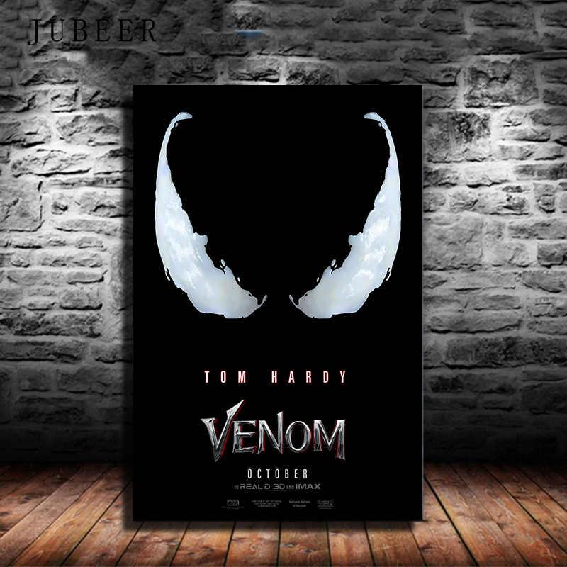 Веном фильм Том Харди Marvel Новинка 2018 плакат комиксы герой Шелковые Плакаты и принты настенные художественные картины для гостиной домашний декор