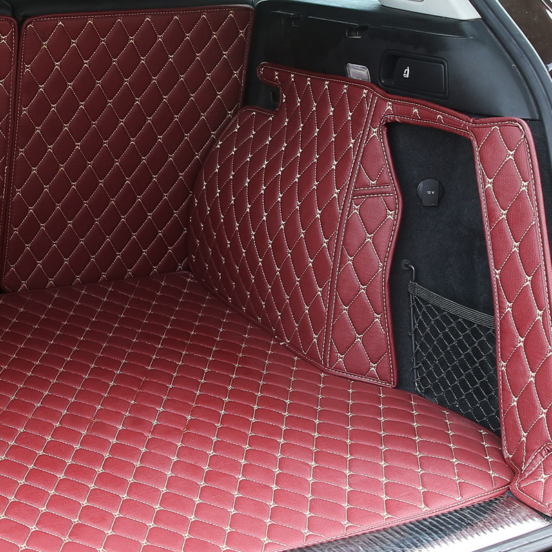 Plaid Lines XPE Trunk Mats Storage Box Pad Waterproof Tail Box Pad Cargo Liner for BMW Audi Toyota Cars