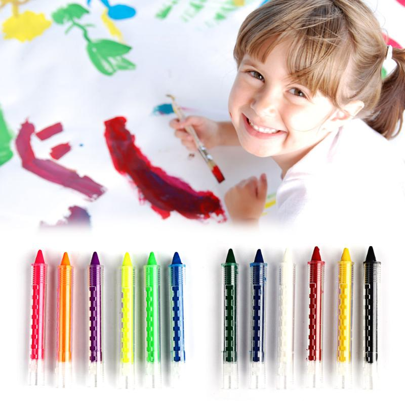 12 Colors Face Painting Pencils Splicing Structure Face Paint Crayon Christmas Body Painting Pen Stick Party Makeup Water Pen