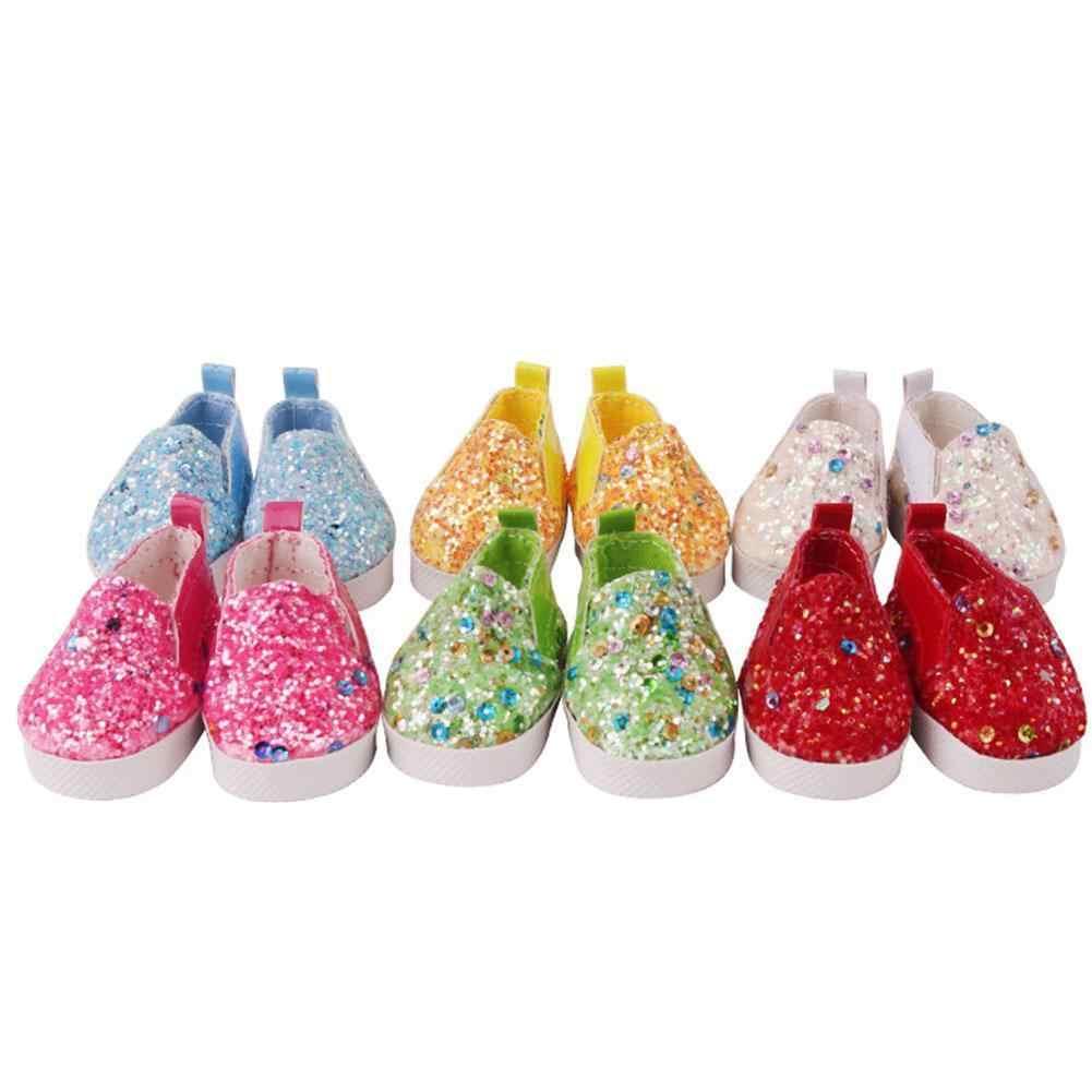 בובת נעלי עור מפוצל 5.5 cm עבור 14.5 אינץ בובת נעלי נצנצים אופנה חמוד קטן נעליים חדש בובות אבזר צעצוע
