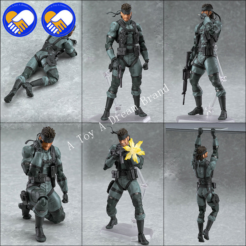 Figma 243 METAL GEAR SOLID 2: SONS OF LIBERTY 15cm Venom Snake 565 10CM PVC Action Figure Collectible Model Toy Original box