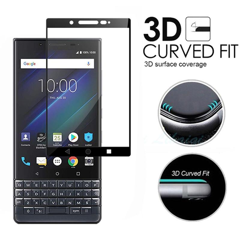 Screen Protector for Blackberry Key2 Lite 3D Full Coverage Tempered Glass for BlackBerry Key 2 Lite Black Front Full Body Film(China)