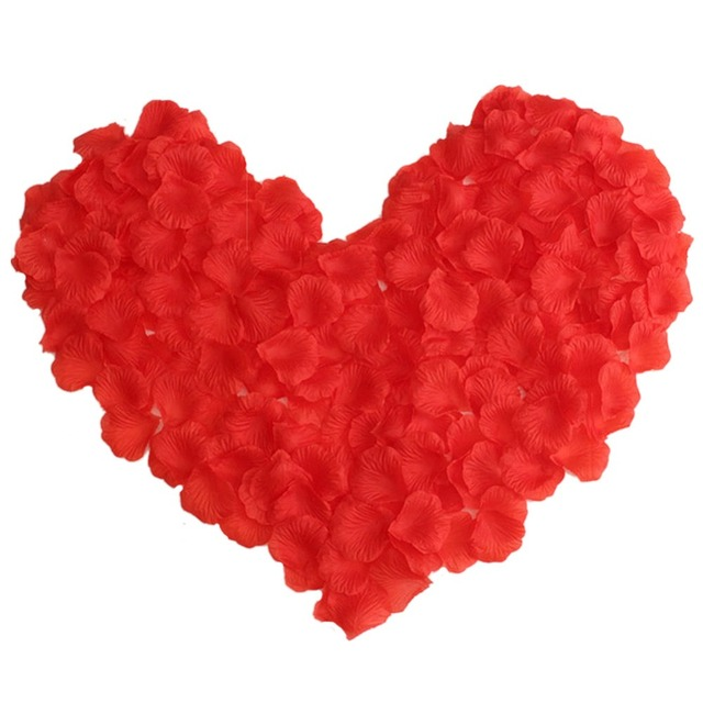 500PCS/Lot 5*5CM Silk Rose Petals for Wedding Decoration Romantic Artificial Rose Flower 20 Colors Wedding Accessories #298244 3