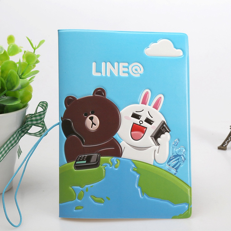 3D Design Cartoon Rilakkuma Passport Holder ID Card Holder PVC ...