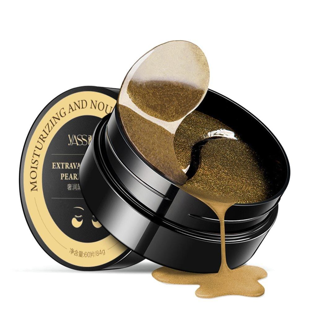 все цены на Black Pearl Golden Collagen Crystal Eye Mask 60pcs Ageless Anti Wrinkle Eye Bags Dark Circles Puffy Eyes Care Pads Patches Gel