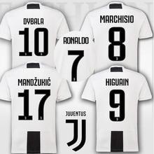 3778eb024 thai quality Champions patch Juventuses RONALDO DYBALA 18 19 HIGUAIN soccer  jersey football 2018 shirt size