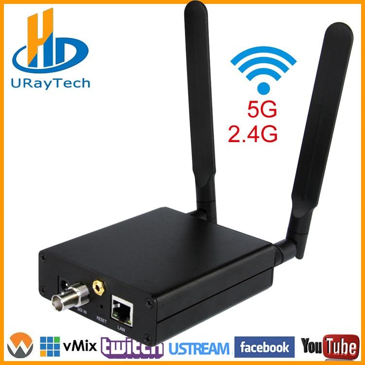 Wireless HD 3G SDI Encoder H.265 H.264 SDI Pentru RTMP RTSP HTTP UDP HLS ONVIF Transmițător Convertor WIFI Live Broadcast Encoder