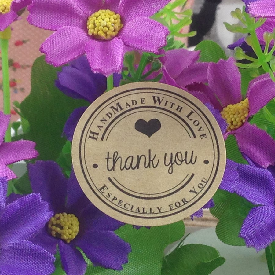 Wholesale-80pcs-lot-Size-3-5cm-Sticker-Tape-Round-DIY-Thank-You-kraft-label-sticker-Custom