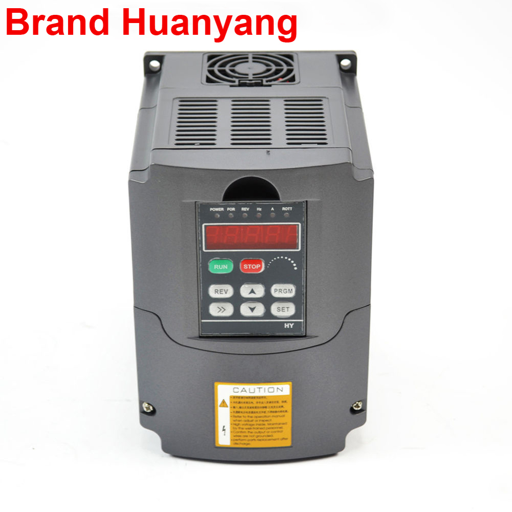 HUANYANG INVERTER 3KW 220V USE FOR CNC SPINDLE MOTOR SPEED CONTROL шпиндель станка cs 3kw 3 3000w cnc b326d 3kw spindle motor