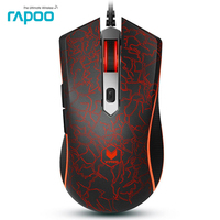 Promotion Original Rapoo V15 3200DPI LED Optical 6D USB Wired Gaming Game Mouse Pro Gamer Computer