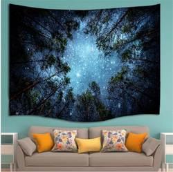 Красивое ночное небо настенный гобелен украшения для дома настенный лес Звездная ночь гобелены для гостиной спальни