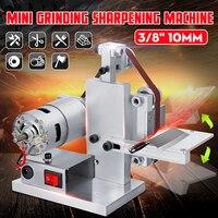 DIY Mini Belt Sander Desktop Grinder Polishing Grinding Sharpening Machine Buffer Electric Angle Grinder 330x10MM With 10 Belts