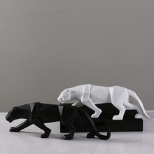 hot deal buy mrzoot resin craft leopard statue black and white office ornament nordic home decoration accessories leopard sculpture