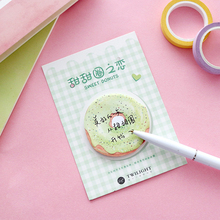 1Pcs Doughnut Candy Self-adhesive Memo Pad Sticky Notes Bookmark School Office Supply simple colorful self adhesive memo pad sticky notes bookmark school office supply