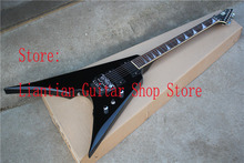 Factory wholesale New EMG pickup flying V black ESP ARROW electric Guitar with Floyd Rose Tremolo, with 9V Active pickups -17-12(China)