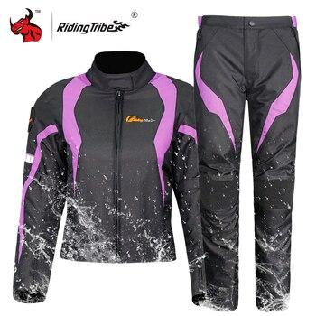 Riding Tribe Women Motorcycle Jacket Protective Gear Winter Waterproof Keep Warm Moto Jacket Motorbike Clothing Set