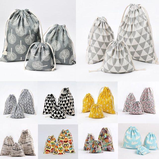 Cotton Linen Storage Bag