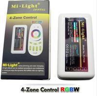 4x 2.4G DC12V 24V led Controller RGBW + 4 Zone RF remote control for 5050 3528 Led Strip Light