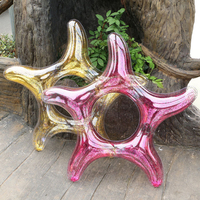 Giant Starfish Pool Float with Gold Rose Red Sequins Inside Big Star Pool Tube Glitter Swim Ring Girls Beach Water Fun Party Toy