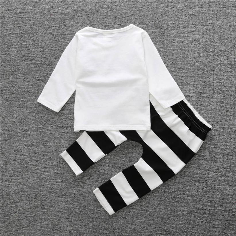 Mooistar2 #5075 1 компл. младенческой Для мальчиков ясельного возраста девушка улыбка Футболка с принтом комплекты одежды; Топы + штаны