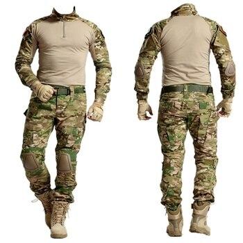 Multicam Camouflage Tactical BDU Uniform Camo Men Airsoft Sniper Paintball Military Suit Combat Shirt Pants Hunting Clothes 1