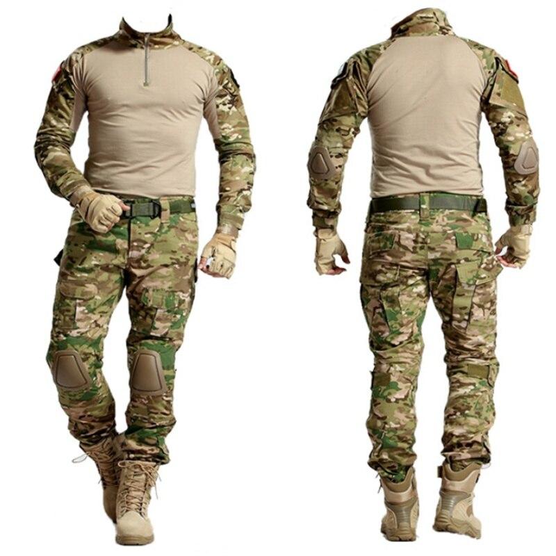 Camouflage Multicam tactique BDU uniforme Camo hommes Airsoft Sniper Paintball costume militaire chemise de Combat pantalon vêtements de chasse