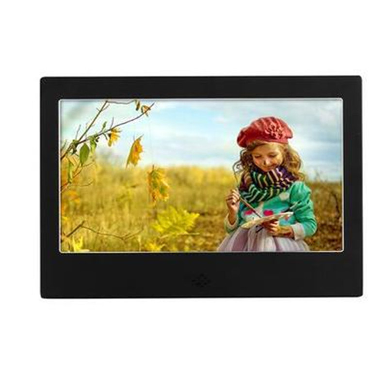 7 inche HD Photo Frame Digital Electronic Picture Album 1024*600 Screens for Advertising Machine with Clock Calendar Desktop 2015 new 7 inch digital photo frame ultra thin hd photo album lcd advertising machine