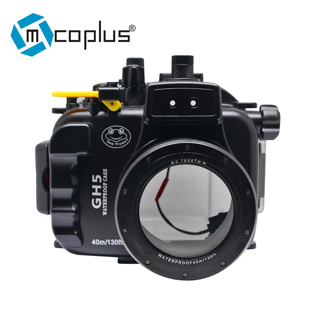 Mcoplus 40m 130ft GH5 Waterproof Underwater Housing Case for Panasonic Camera With 12 60mm/45 150mm Lens