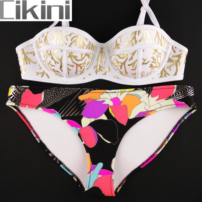 Neoprene Swimwear Women Bikini Woman New Summer 2018 Sexy Swimsuit Bath Suit Push Up Bikini set Bathsuit TA008Y Cikini neoprene swimwear women bikini woman new summer 2017 sexy swimsuit bath suit push up bikini set bathsuit ta008y