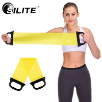 SILITE Yoga Pull Rope Pilates With Plastic Handles Resistance Bands Latex Fitness Workout For Men Strength
