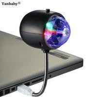 Tanbaby 2 In 1 USB RGB Stage Light White LED Lamp Desk Table Light Portable Illumination