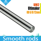 8pcs 3D printer Ultimaker 2 UM2 Extended Linear Shaft Smooth Rods for X.Y.Z Axis +Sets OD 6mm 8mm 12mm 3D Printer Smooth Rods