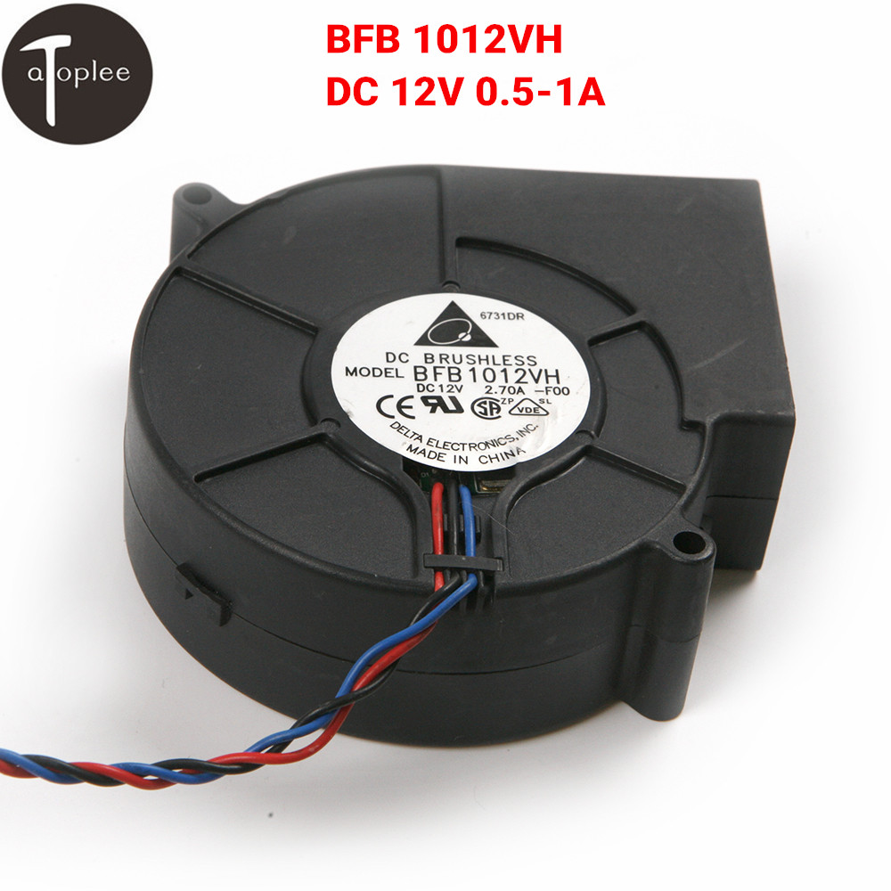 12V DC 3 Wires Brushless Blower Fan Cooling Cooler for Barbecue Stove Black