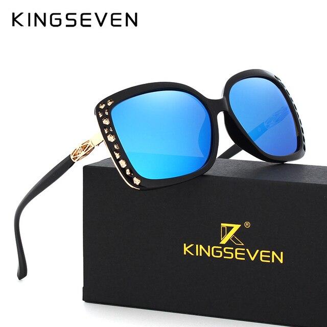 Original Sunglasses Women Polarized Elegant Butterfly Design For Ladies Sun Glasses Female Oculos De Sol KINGSEVEN Shades 7543