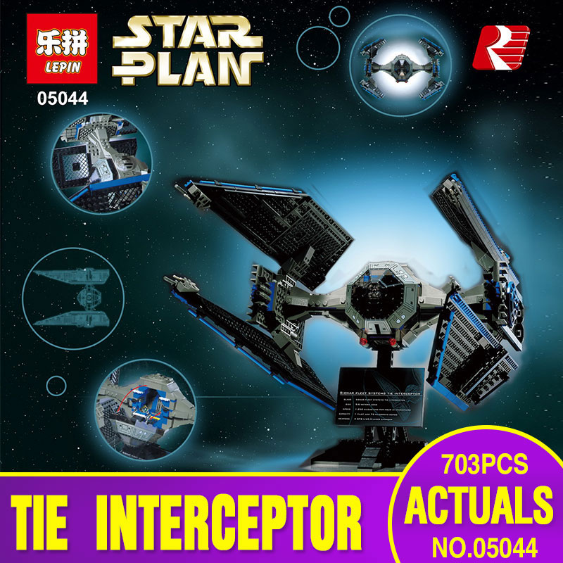 Lepin 05044 703pcs New Star War Series Limited Edition The TIE Interceptor Educational Building Blocks Bricks