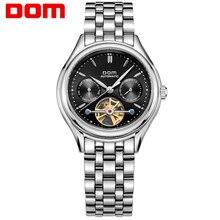 2016 DOM Marca Homens Mecânicos Homens do Estilo do Negócio do Relógio de Pulso de Alta Qualidade Relógio de Aço Inoxidável Calendário Relógio À Prova D' Água Para O Homem